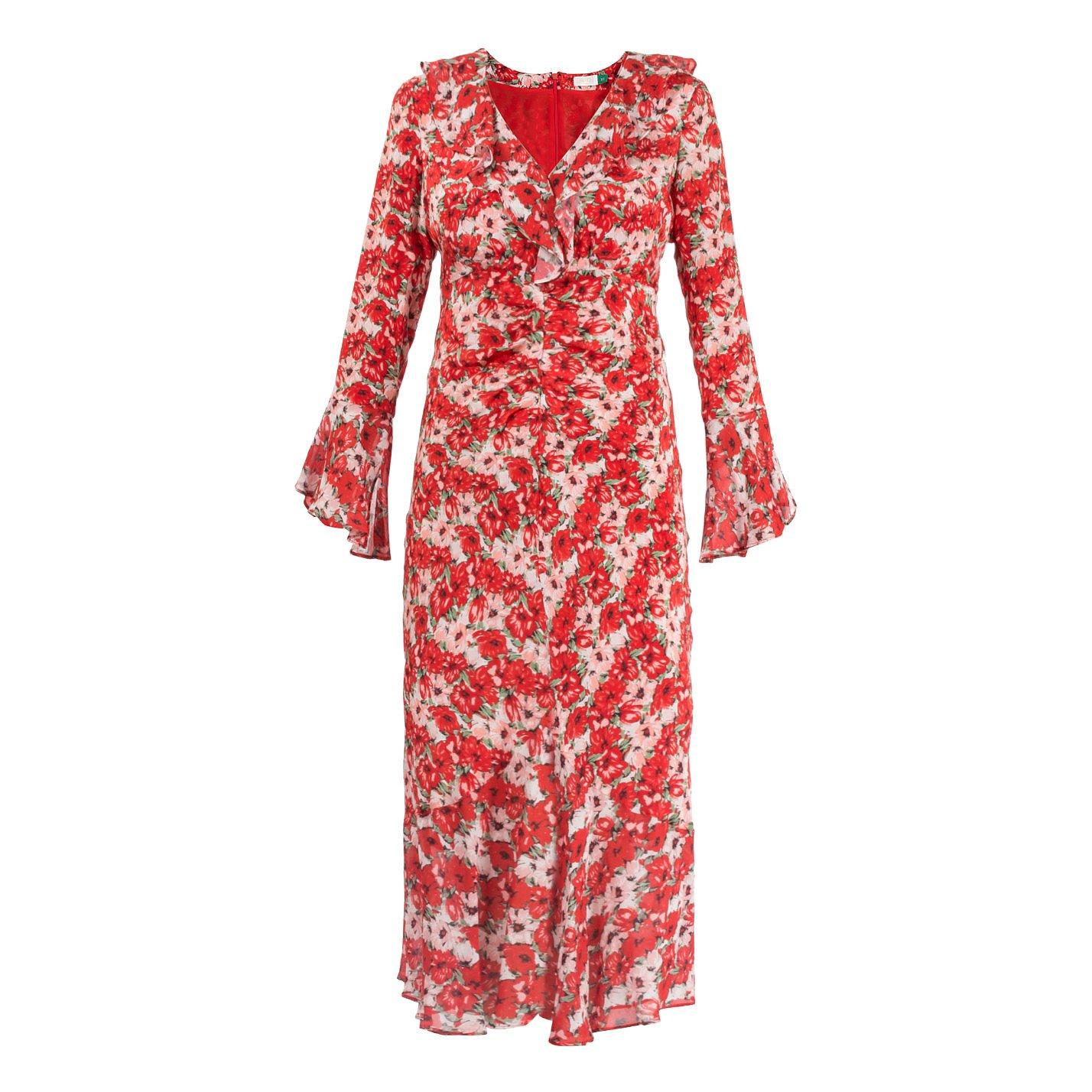 Rixo Coleen Floral Print Dress