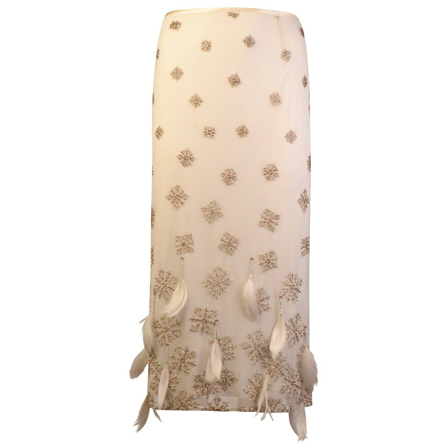 Karen Millen Bead & Feather Embellished Skirt