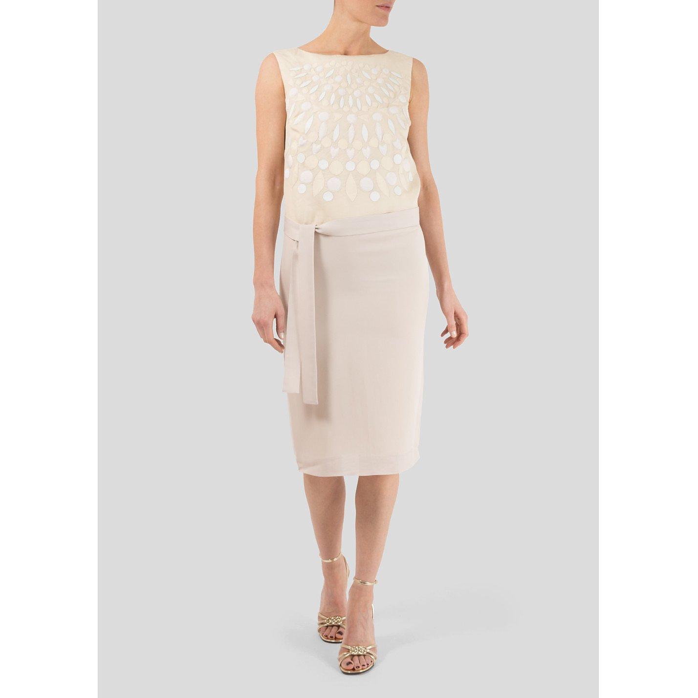 Victoria Beckham Petal Applique Sleeveless Dress