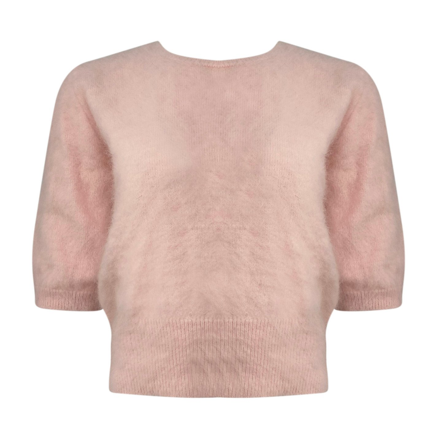 Coco Ribbon Mohair And Cashmere Knitted Tee
