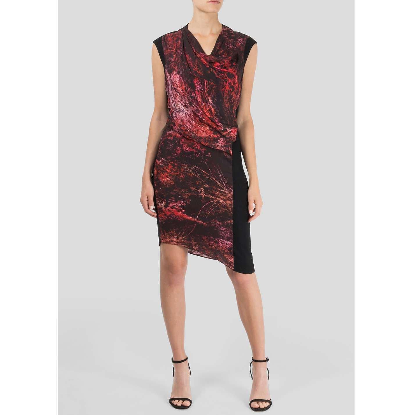HELMUT LANG Graphic Print Dress