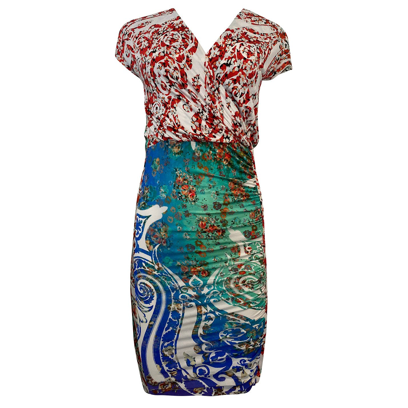 ETRO Mixed Print Ruched Dress