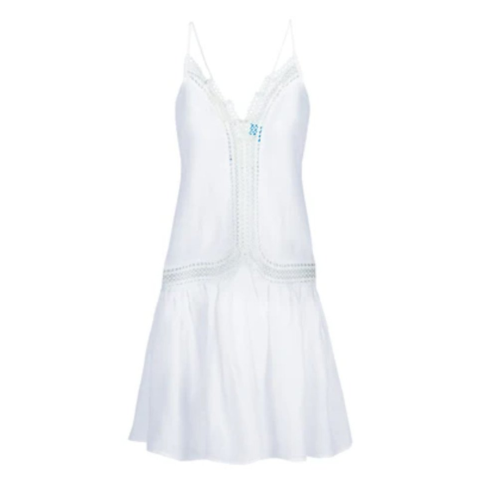 A Mere Co Mid Mid Lace-Trimmed Dress