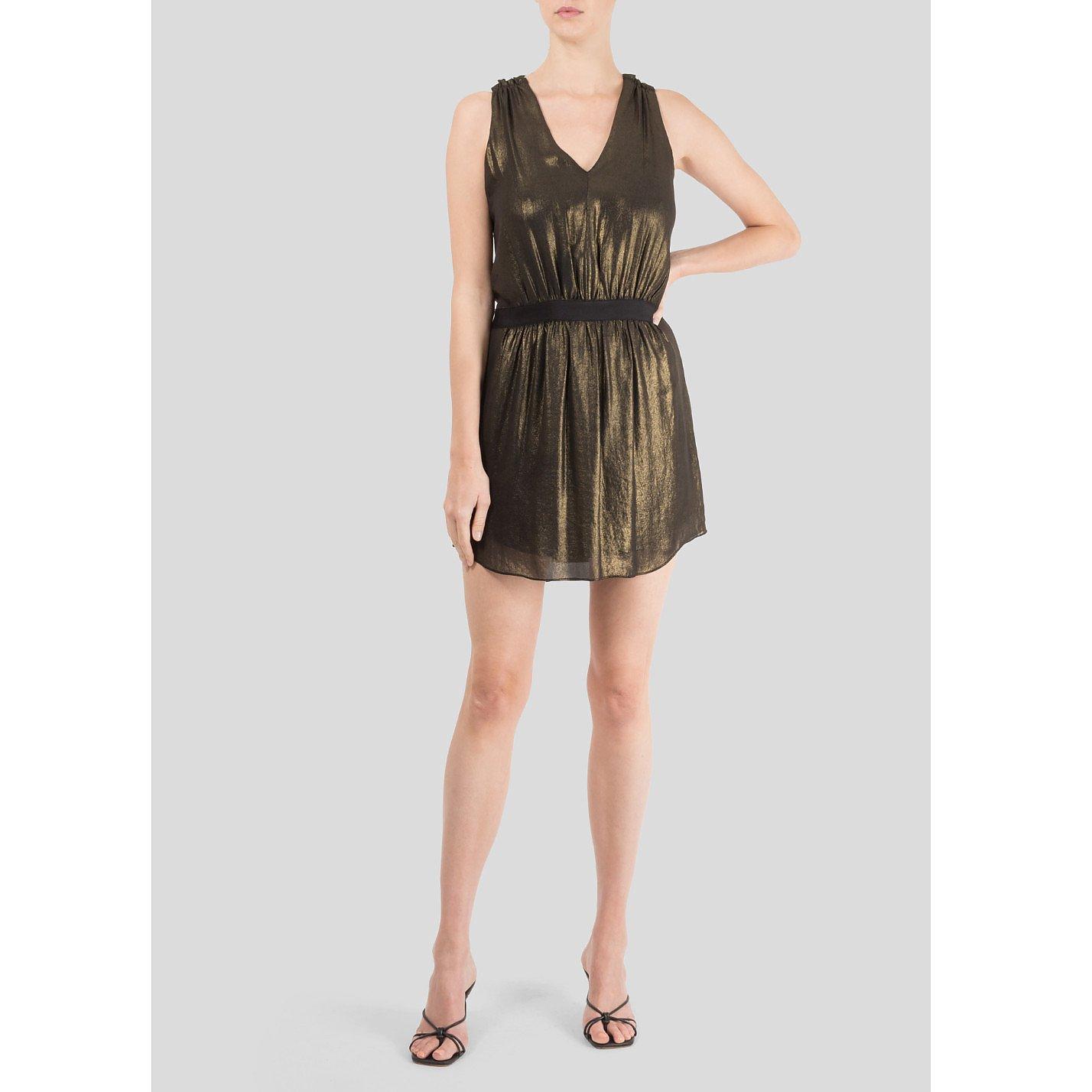 Comptoir des Cotonniers Metallic Mini Dress