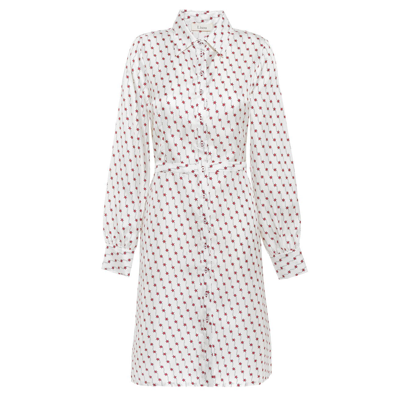 Lisou Isabelle White Red Shooting Star Dress