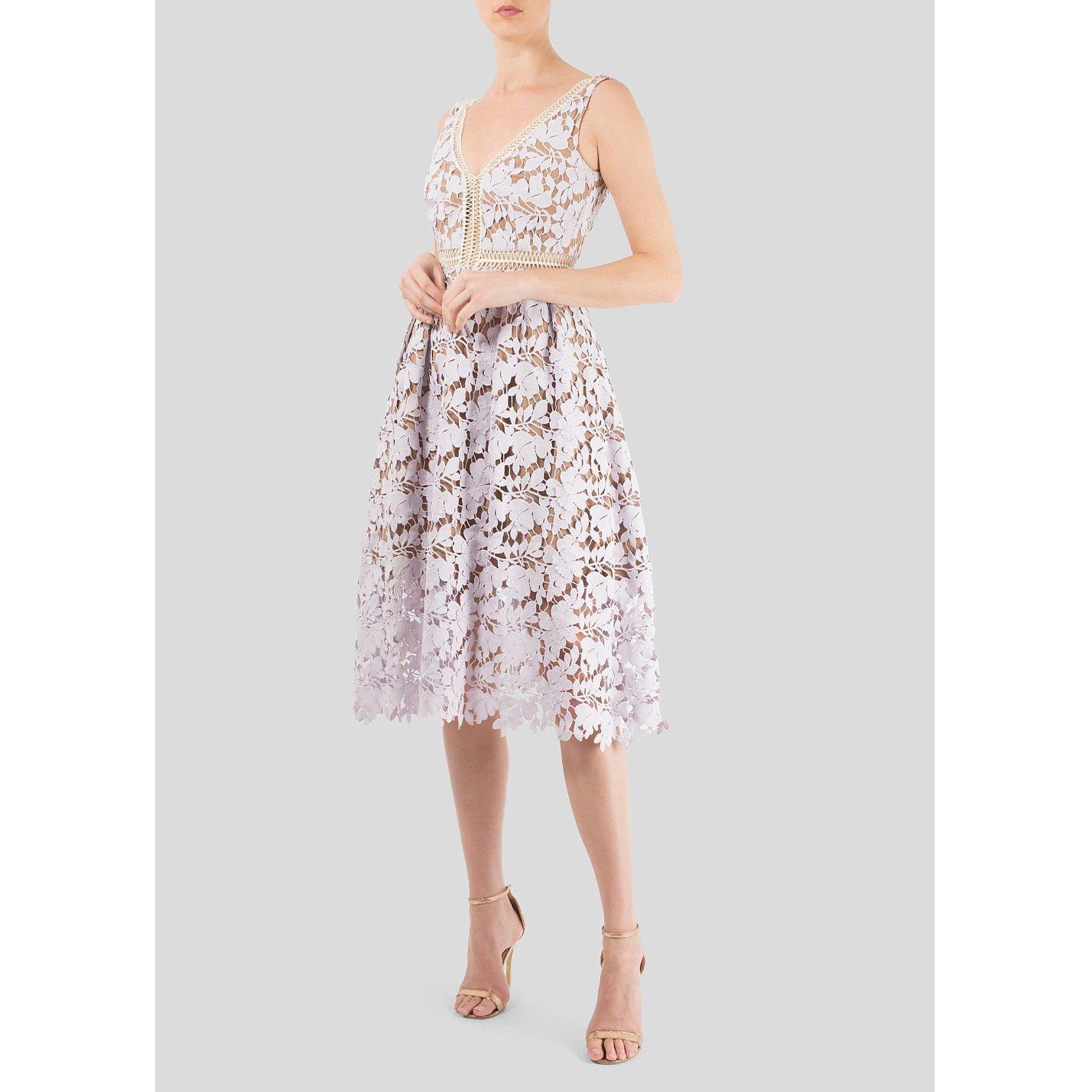 Self-Portrait Guipure Lace Dress