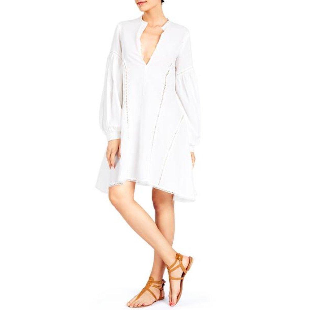 A Mere Co Lace-Trimmed Shirt Dress