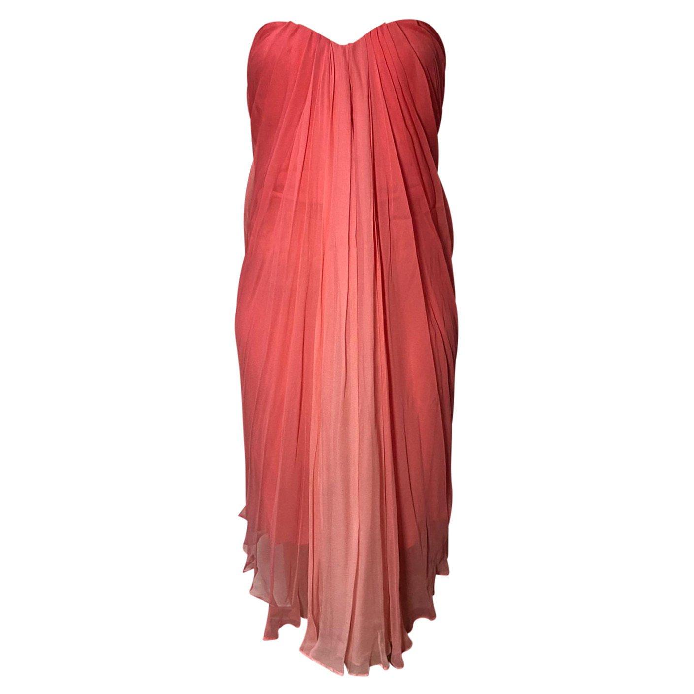 Alexander McQueen Sheer Ombré Corset Dress
