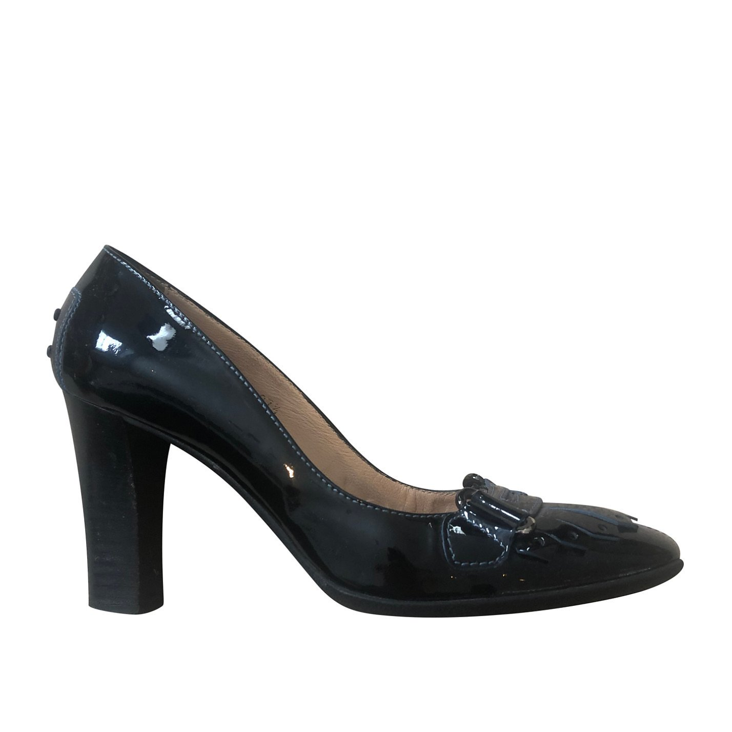 Tods Patent Loafer Pumps