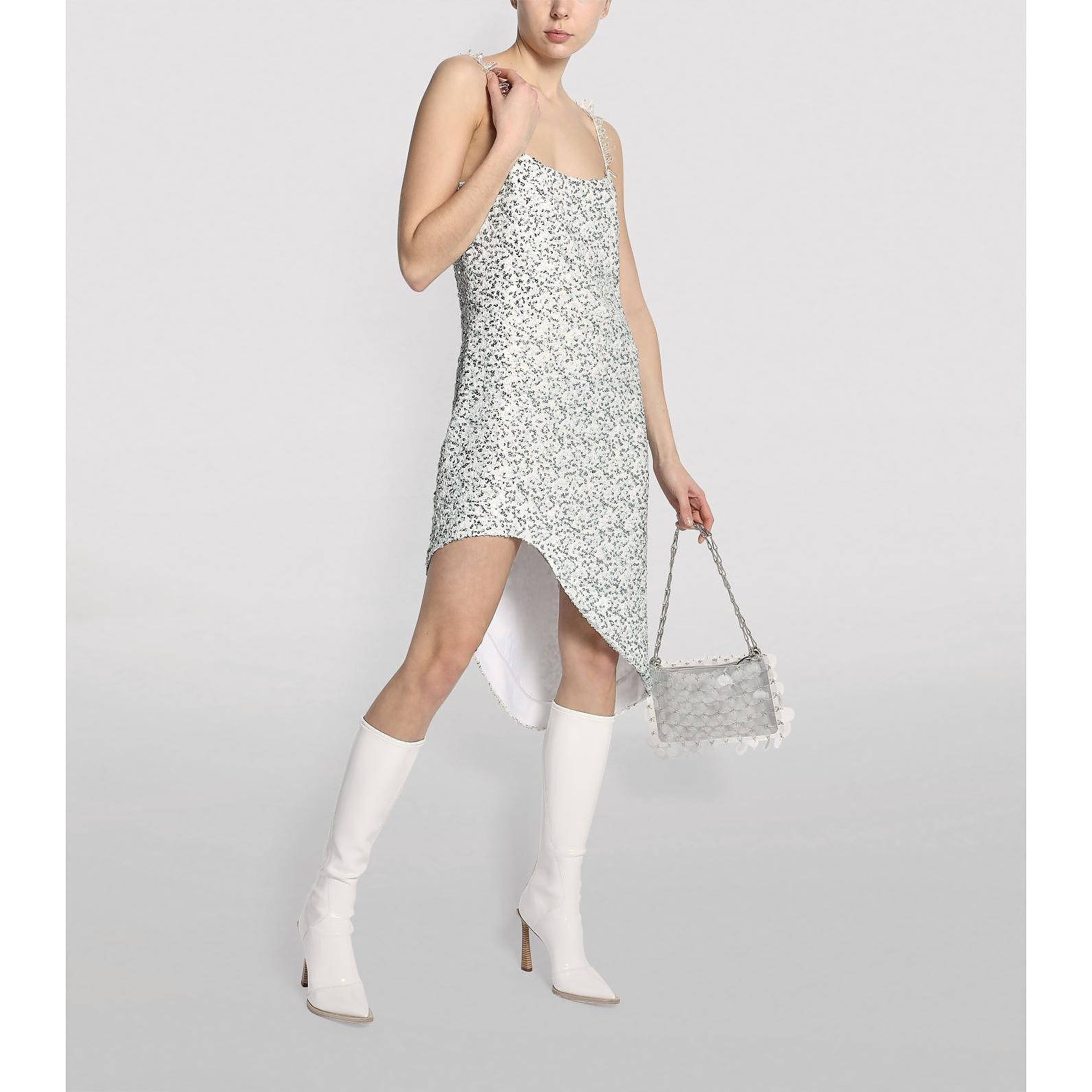 Halpern Embellished Asymmetric Slip Dress
