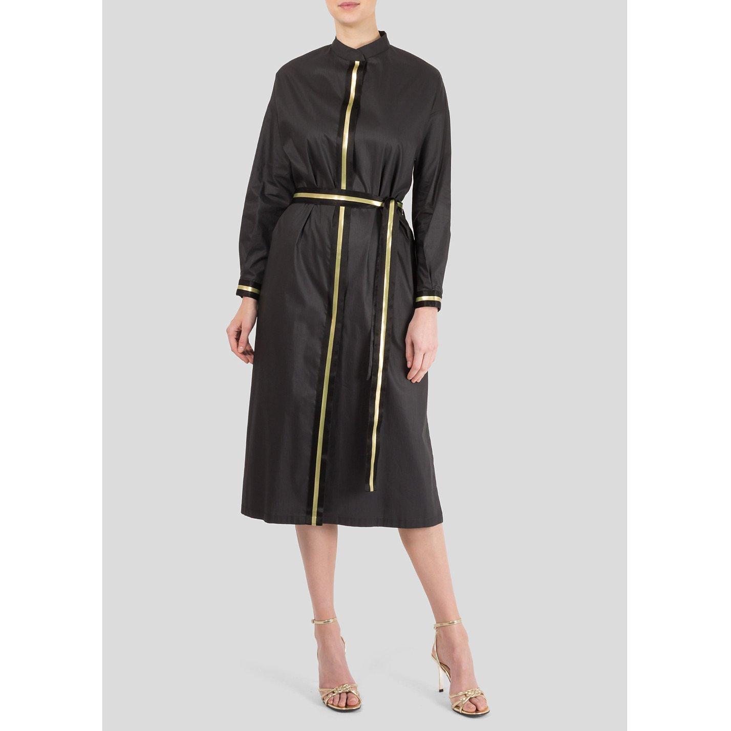 Ereda High Neck Stripe Detail Dress
