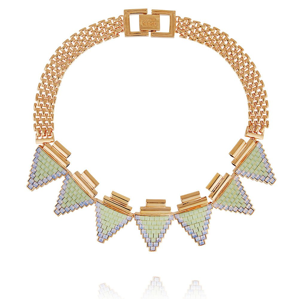 Mawi Deco Triangle Tube Necklace