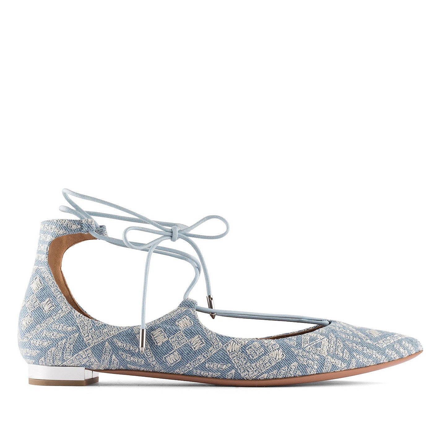 Aquazzura Christy Embroidered Flat