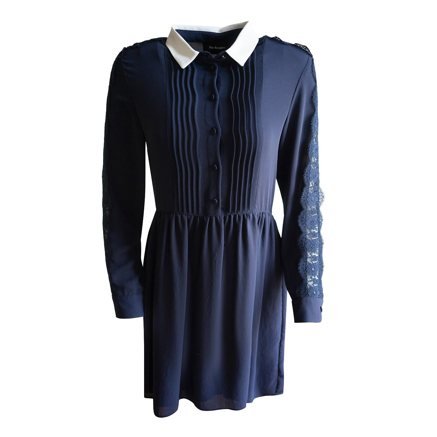 The Kooples Lace-Inset Shirt Dress