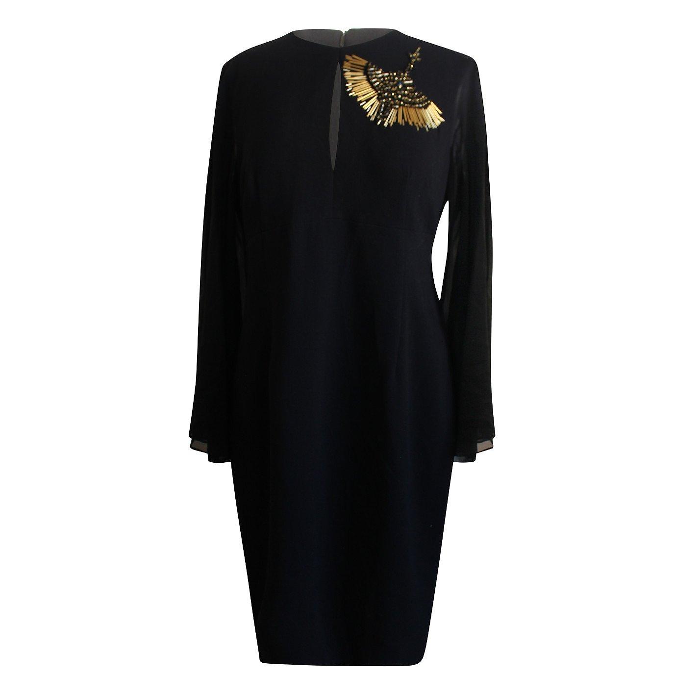 Trina Turk Embellished Chiffon Sheath Dress