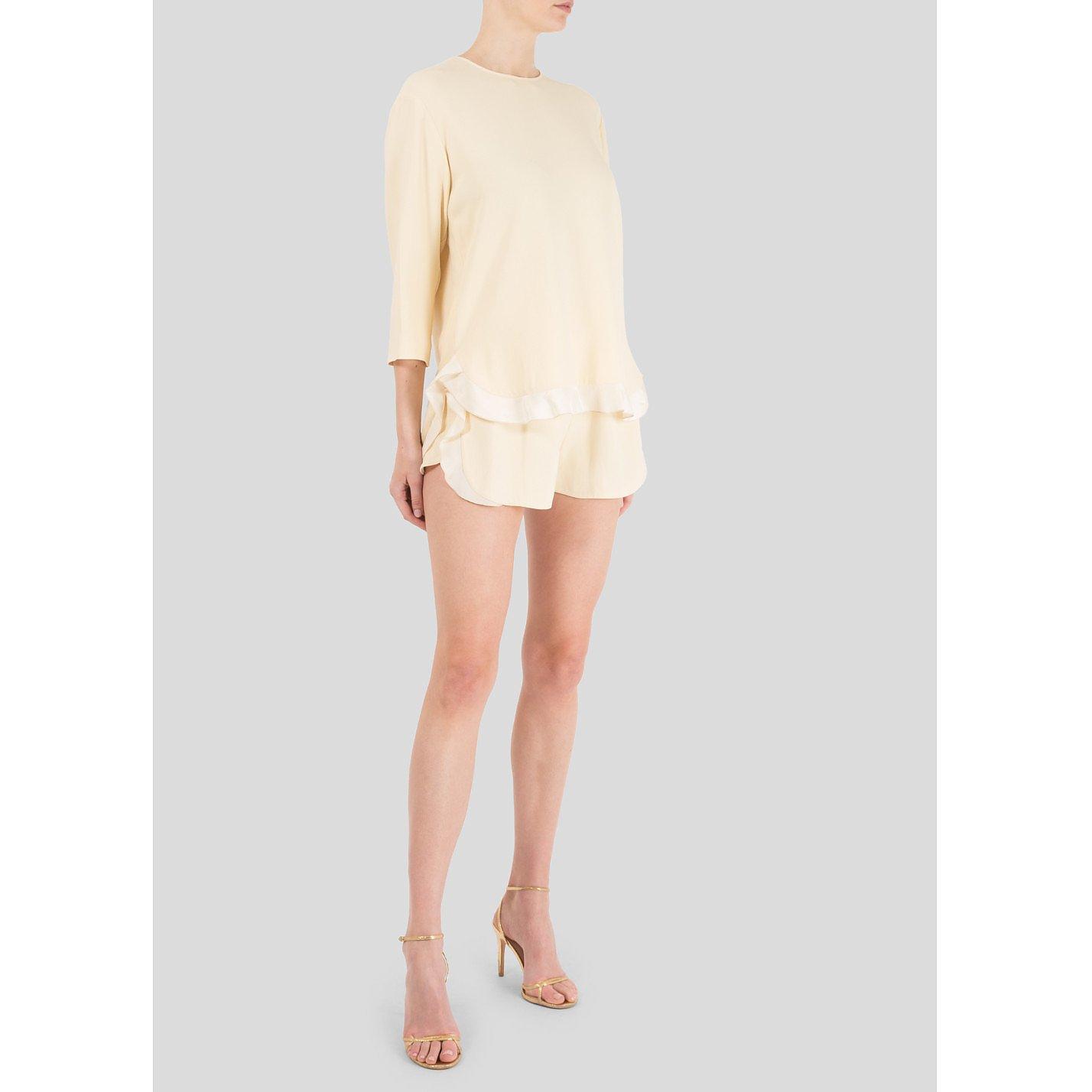 Stella McCartney Ruffle-Trimmed Top & Shorts