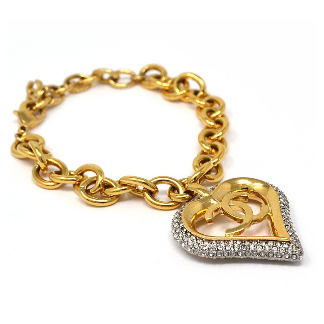 CHANEL Heart Charm Bracelet