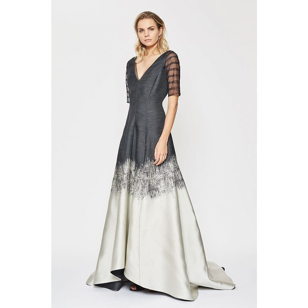 Amanda Wakeley Brushstroke Jacquard Degrade Gown